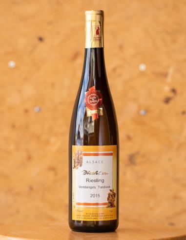 Riesling Vendanages Tardives 2015, domaine DISCHLER André, vin d'Alsace