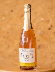Crémant rosé, domaine DISCHLER André, vin d'Alsace