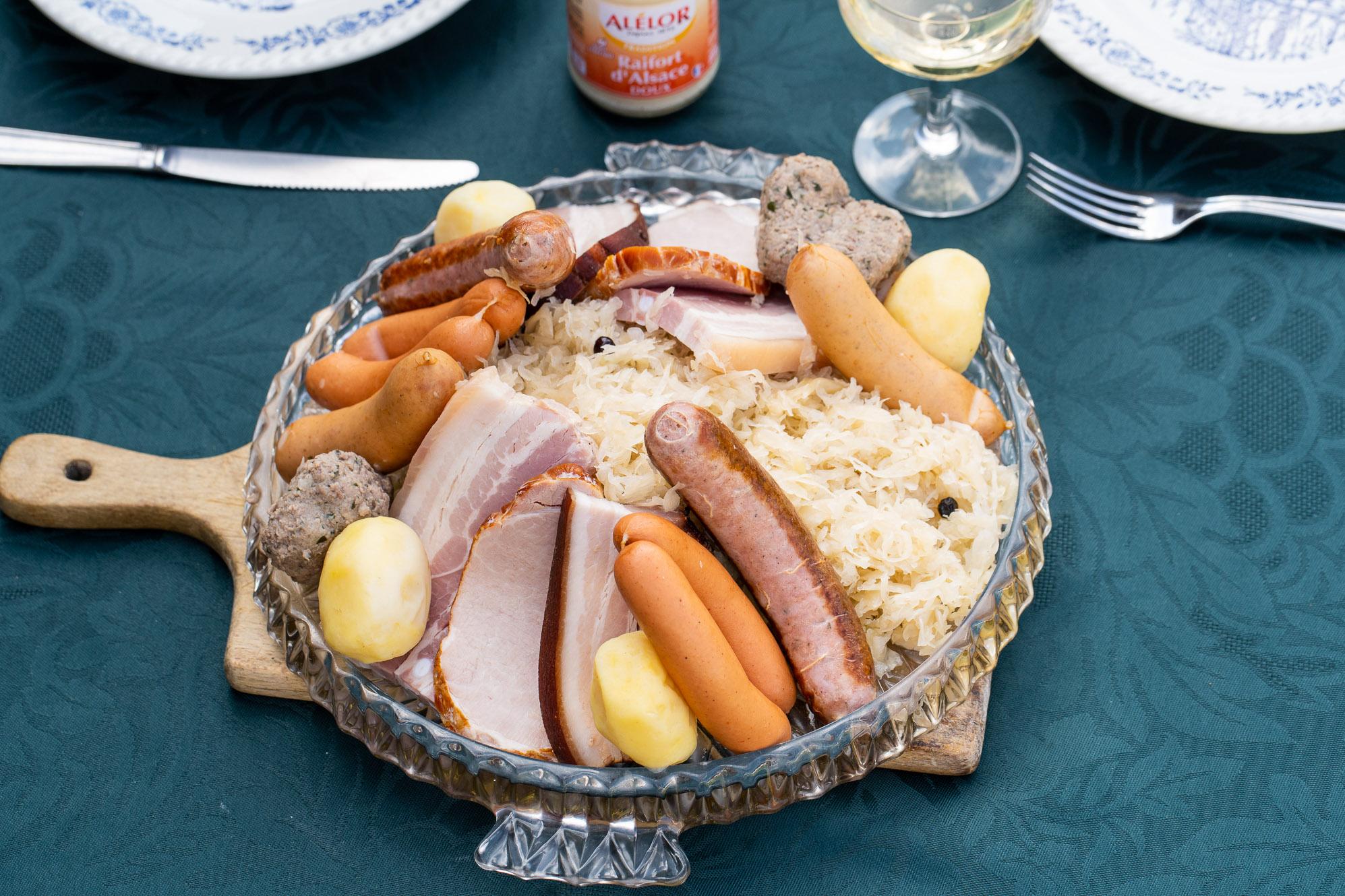 choucroute cuite alsacienne